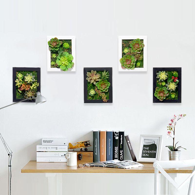 3D Creative metope succulent plants artificial cactus imitation wood ...