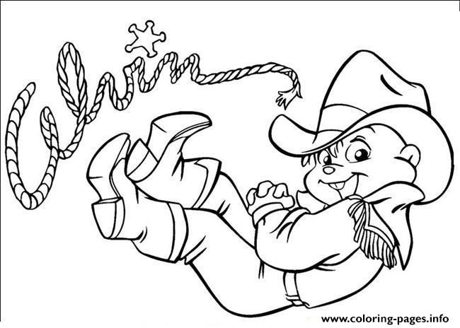 Print cowboy alvin and the chipmunks coloring pages | Coloring Pages ...