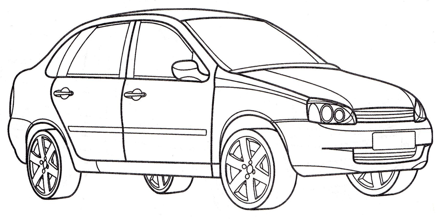 Raskraska Lada Kalina Raspechatat Besplatno V 2020 G Raskraski Ladan Avtomobil