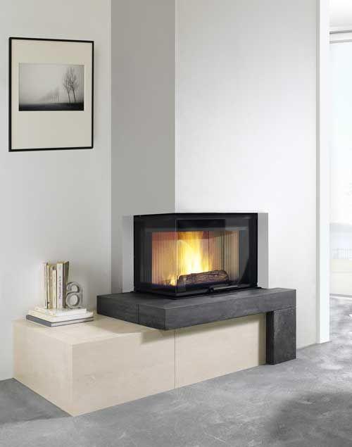 chemin e d 39 angle moderne recherche google fireplaces. Black Bedroom Furniture Sets. Home Design Ideas