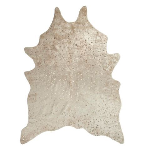 Ayi Metallic Faux Cowhide Rug from Z Gallerie