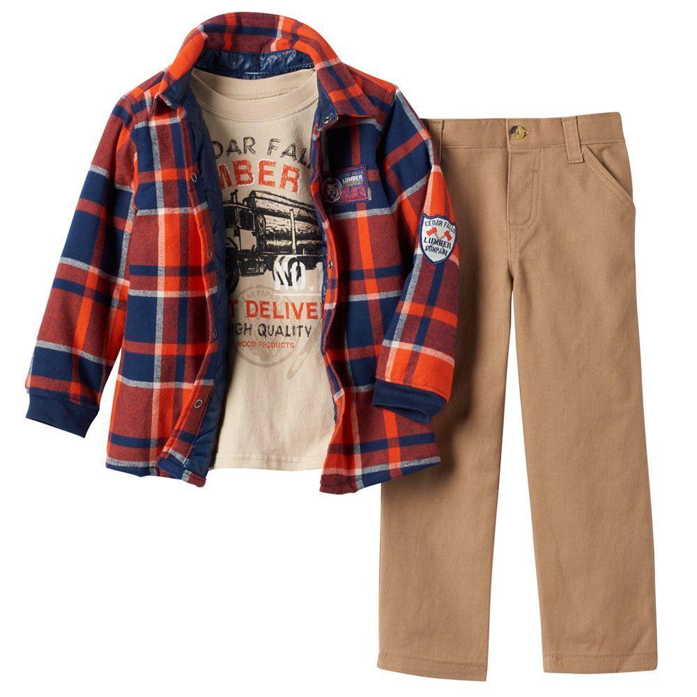 Flannel shirt with khaki pants  Toddler Boy Boyzwear Plaid Flannel Shirt