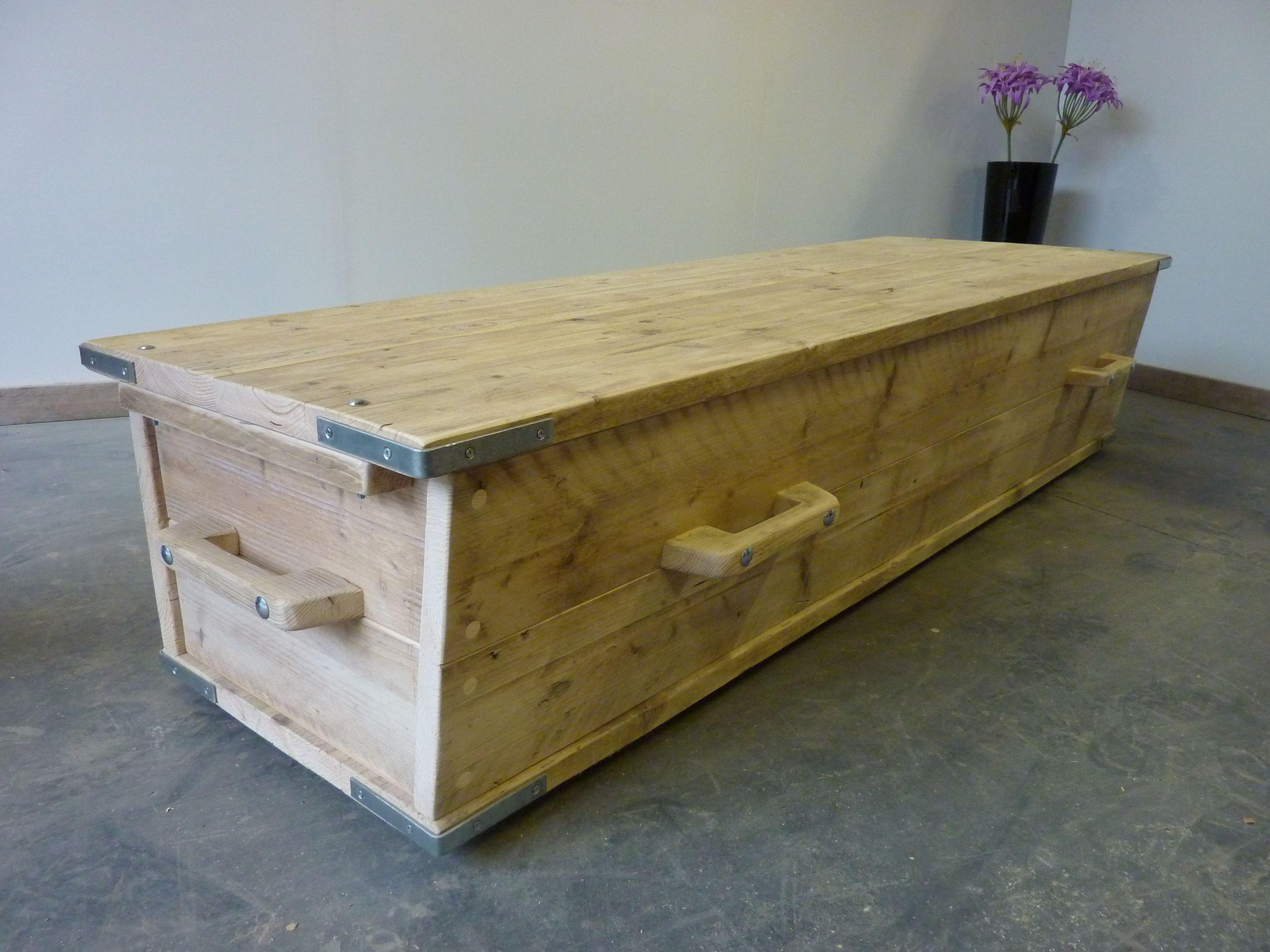 Bed Tv Meubel : Steigerhouten winkelinrichting tafel meubels lounge hoek bank bed