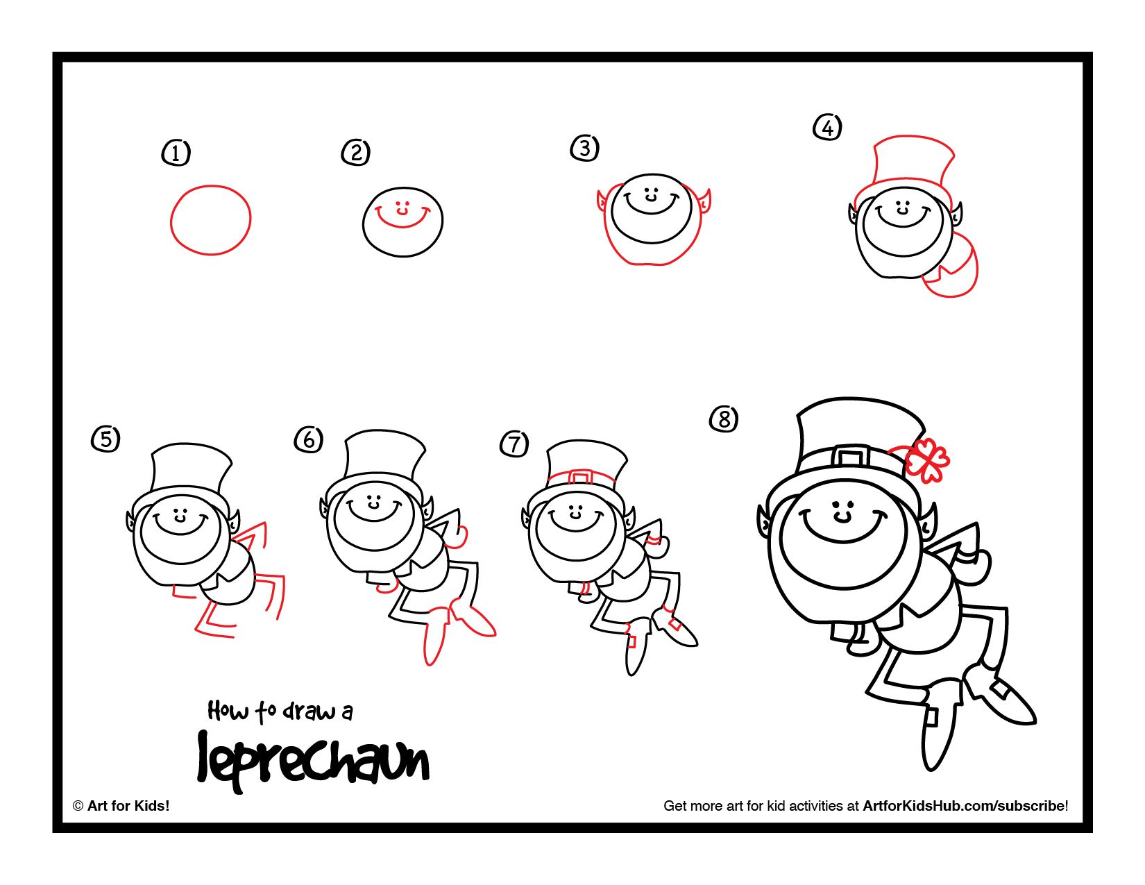 how to draw a leprechaun art for kids hub art lessons