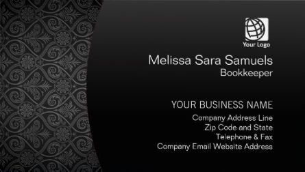 Bookkeeper finance services elegant black damask business cards bookkeeper finance services elegant black damask business cards direct link httpswww reheart Gallery