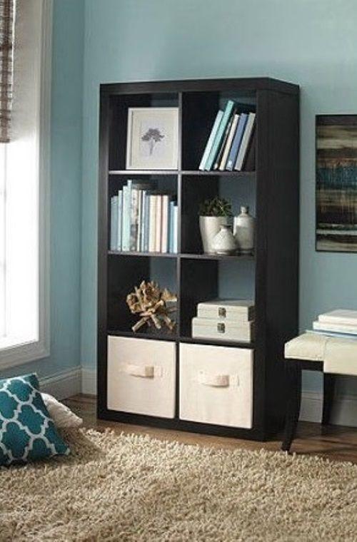 Wooden 8 Cube Organizer Storage Espresso Tv Stand Shelves Book Case