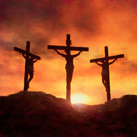 Calvary Hill Who Hung On The Middle Cross The Lord Jesus Jesus