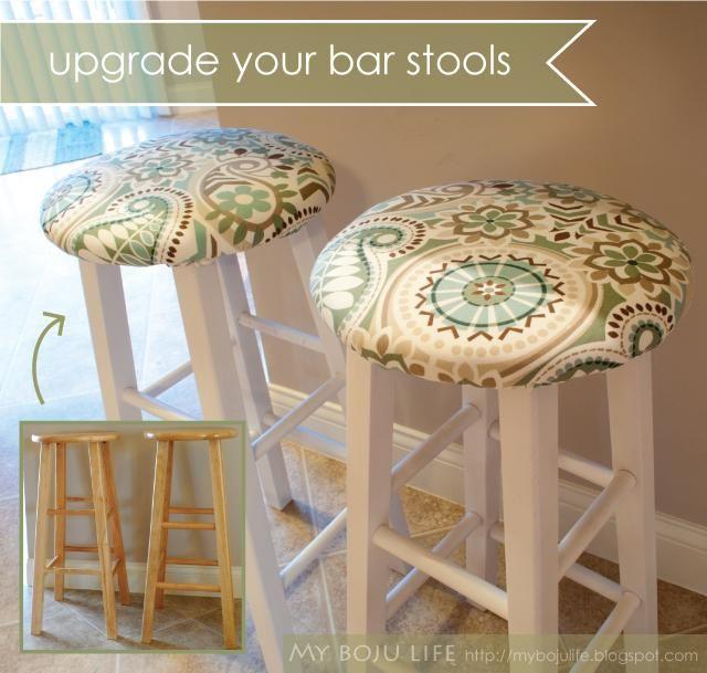 Diy Kitchen Bar Stools: DIY Bar Stool Upgrade DIY Furniture