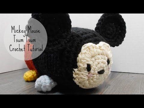 ❤ Mickey Mouse Tsum Tsum Crochet Tutorial - YouTube   ganchillo ...