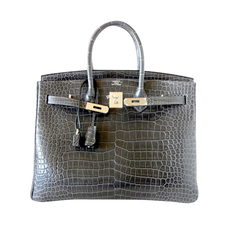 11572ac16cc4 1stdibs - HERMES BIRKIN 35 bag MATTE Gray Crocodile SO Chic explore items  from 1