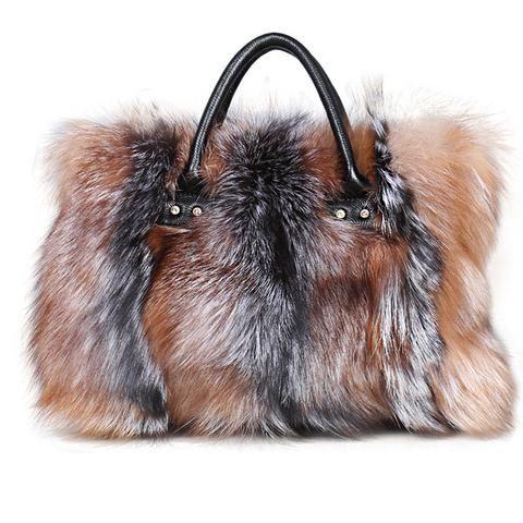 c5b0126915d3 luxury handbags women bags designer real fur bags fox fur luxury handbag  fashion genuine leather shoulder bag bolso mujer moda