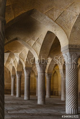 Inside the mosque, Shiraz, Iran #AD , #mosque, #Shiraz, #Iran