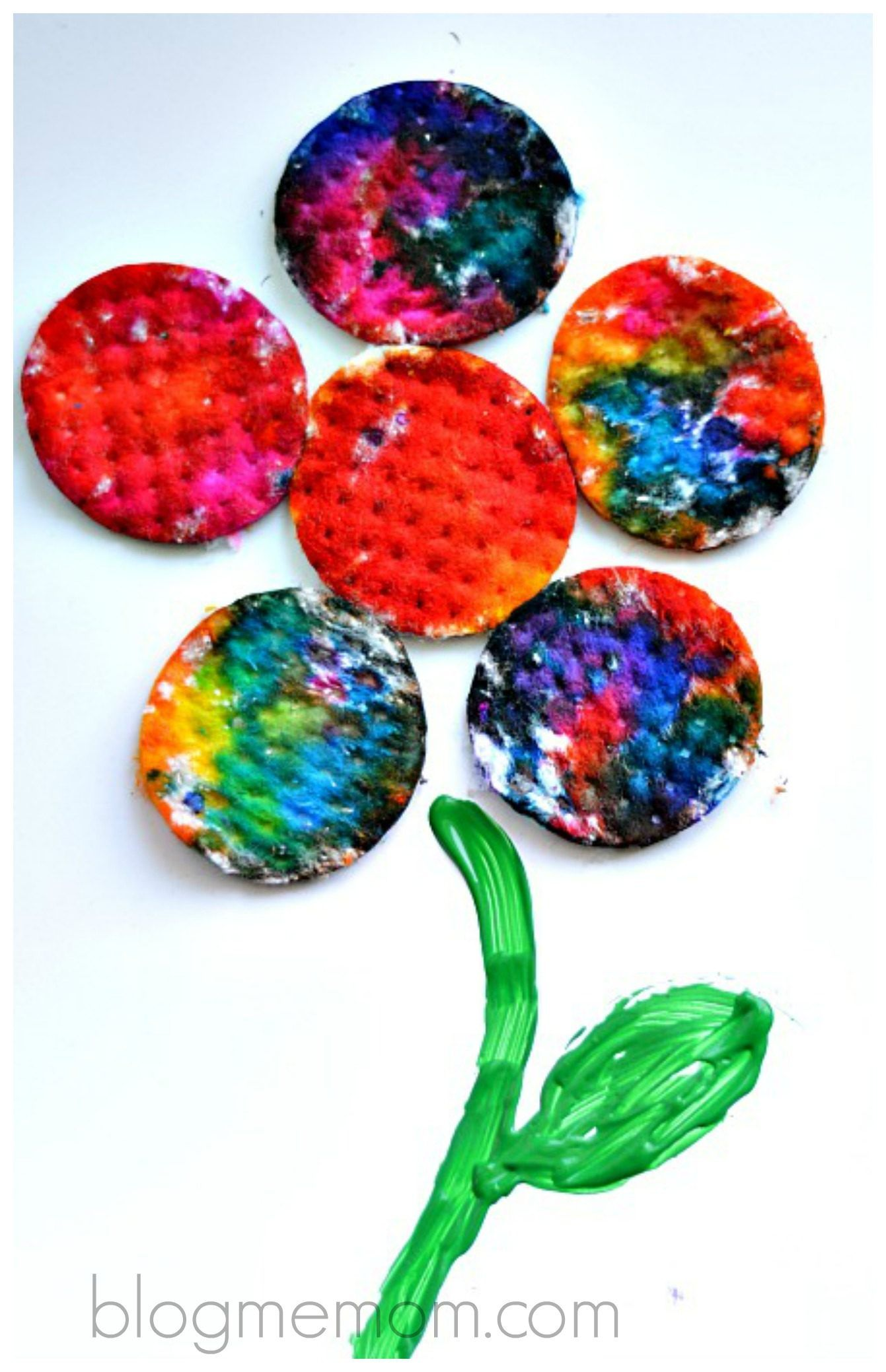 Absorption Art Using Cotton Rounds Artprojectsforkids