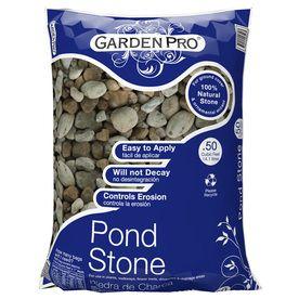 GARDEN PRO 0.5 Cu Ft Pond Stone · Garden EdgingLowesKoi ...