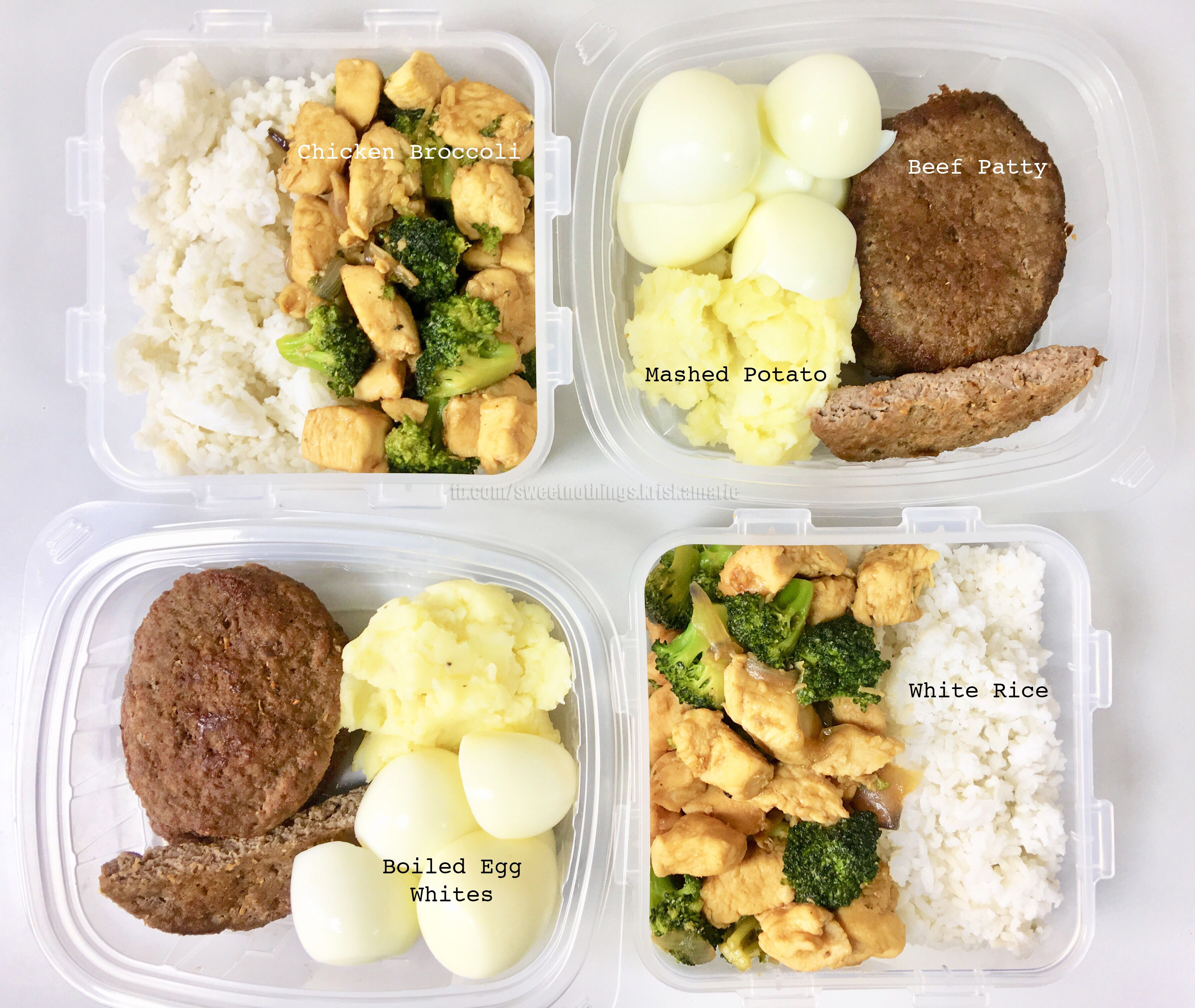 Meal Prep Ideas: Chicken & Rice, Beef & Mashed Potato | Meal prep, Beef  patty, Mashed potatoes