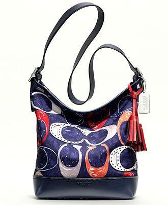 COACH LEGACY HERITAGE SIGNATURE C PRINT DUFFLE - Sale   Clearance - Handbags    Accessories - Macy s 20986ac2a8c0d