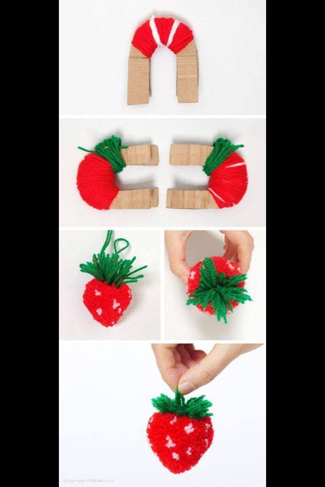 DIY Strawberry Decor