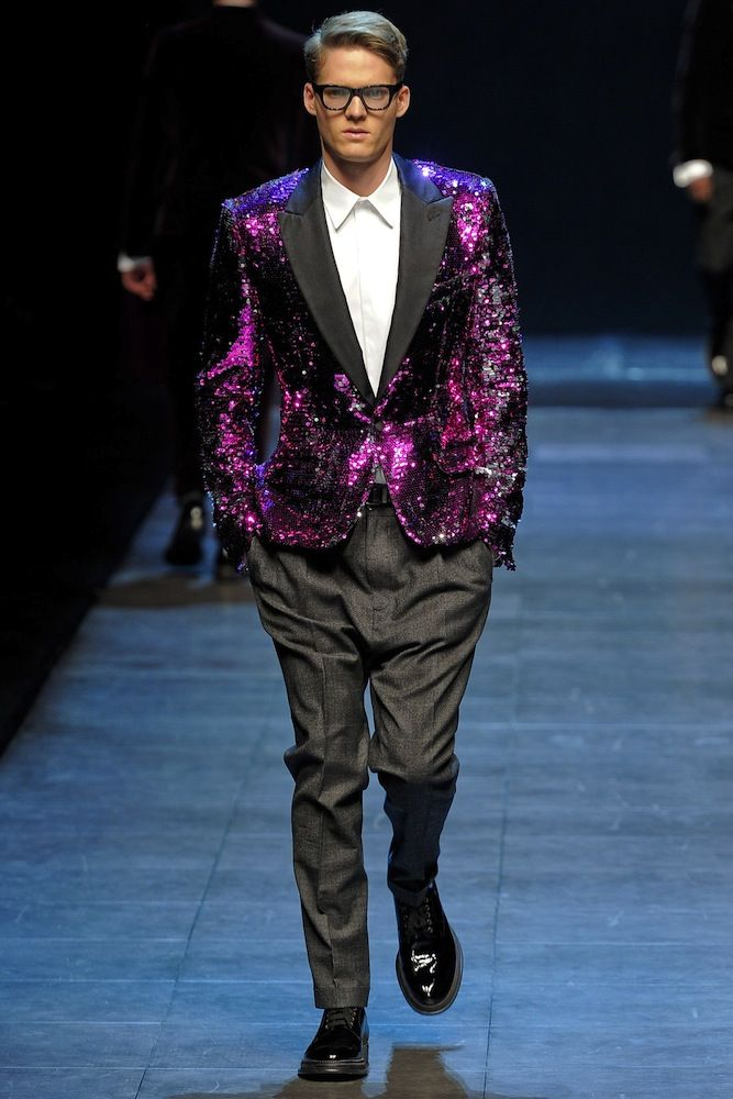 Dolce and Gabbana mens sequined tuxedo   Shine. Shimmer. Sparkle ...