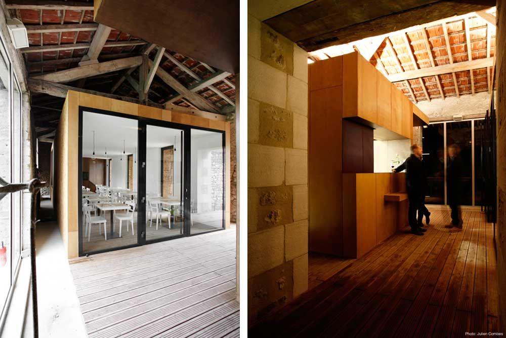 Rénovation dune grange en restaurant par lagence darchitecture comac