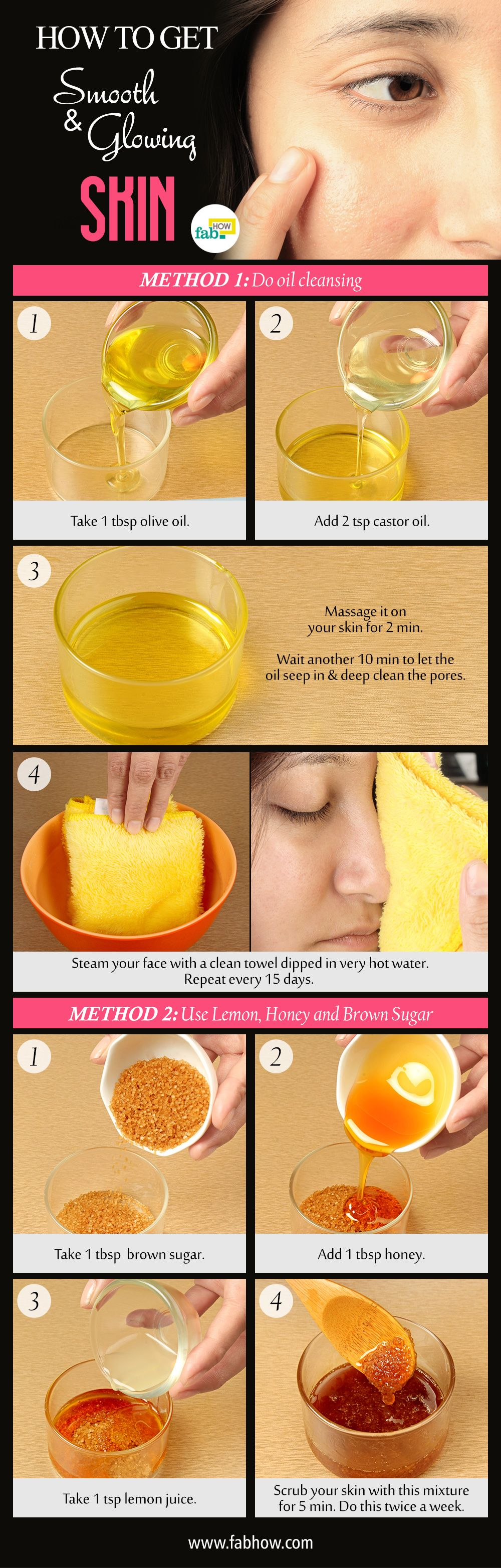 How To Get Smooth And Glowing Skin At Home