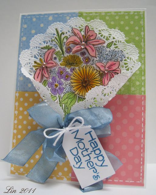 doilies and lace  cards handmade flower cards floral cards