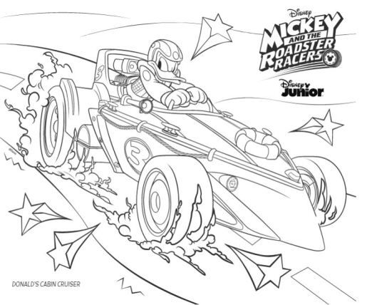 Dibujos Para Colorear De Mickey Aventuras Sobre Ruedas Con