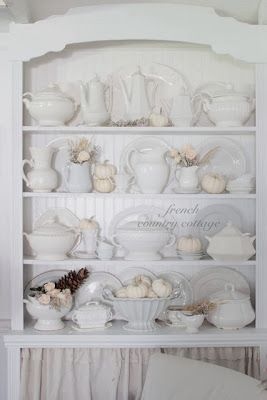 FRENCH COUNTRY COTTAGE: White Ironstone Pitcher