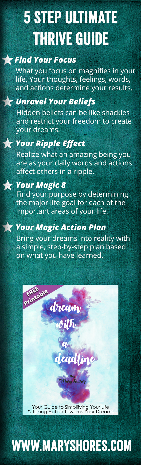FREE PRINTABLE] Ultimate Thrive Guide Workbook - Dream with a ...