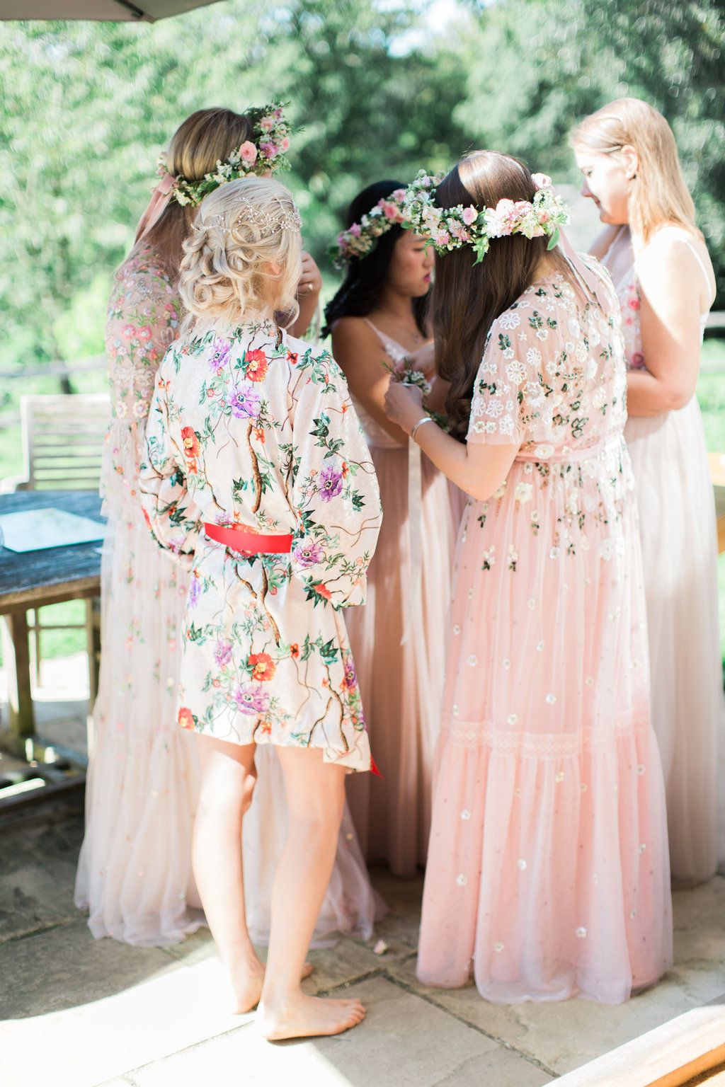 92c621af9df44 Needle & Thread Bridesmaids Dresses For A Pink And Mint At Home Marquee  With Fine Art