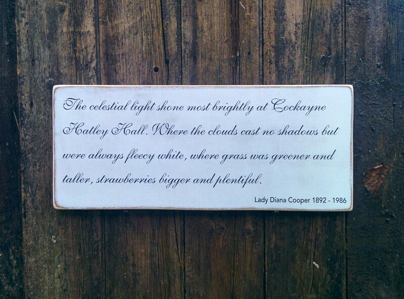 Lady Diana Cooper quote on shabby chic sign