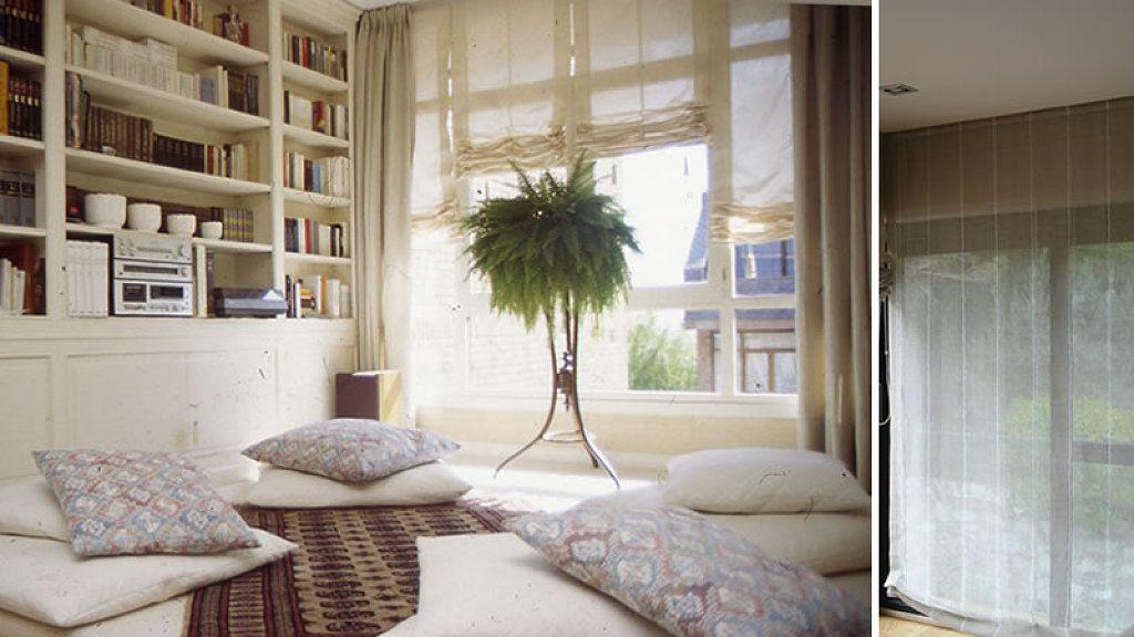 ayuda cortinas saln decorar tu casa es with estores para ventanas grandes