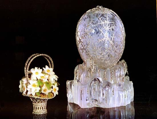 A masterpiece faberge winter egg made for Russia's imperial family sold for 7.2 million Swiss francs