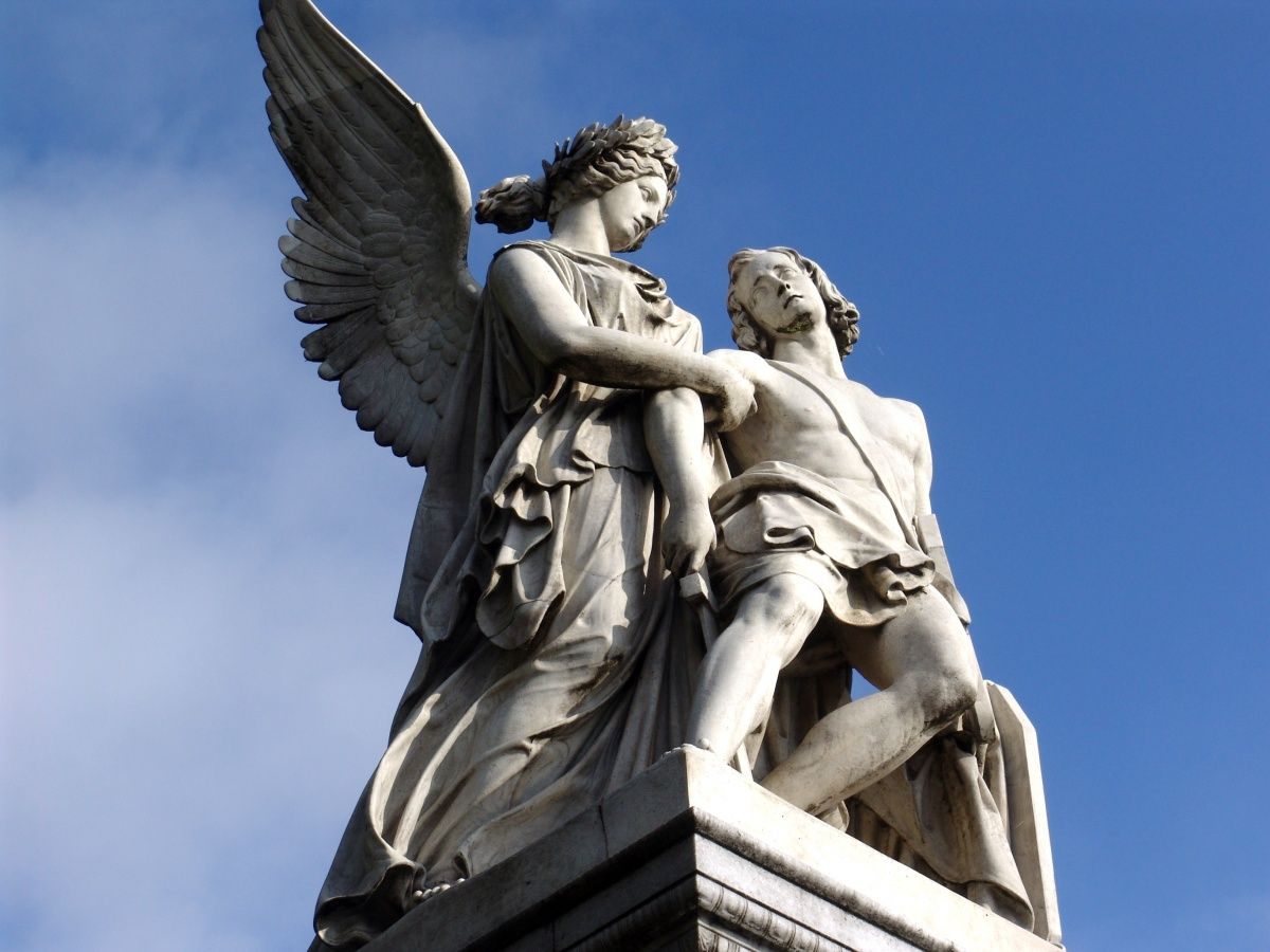 Sculpture Ancient Greek Gods Mixing Mythologies
