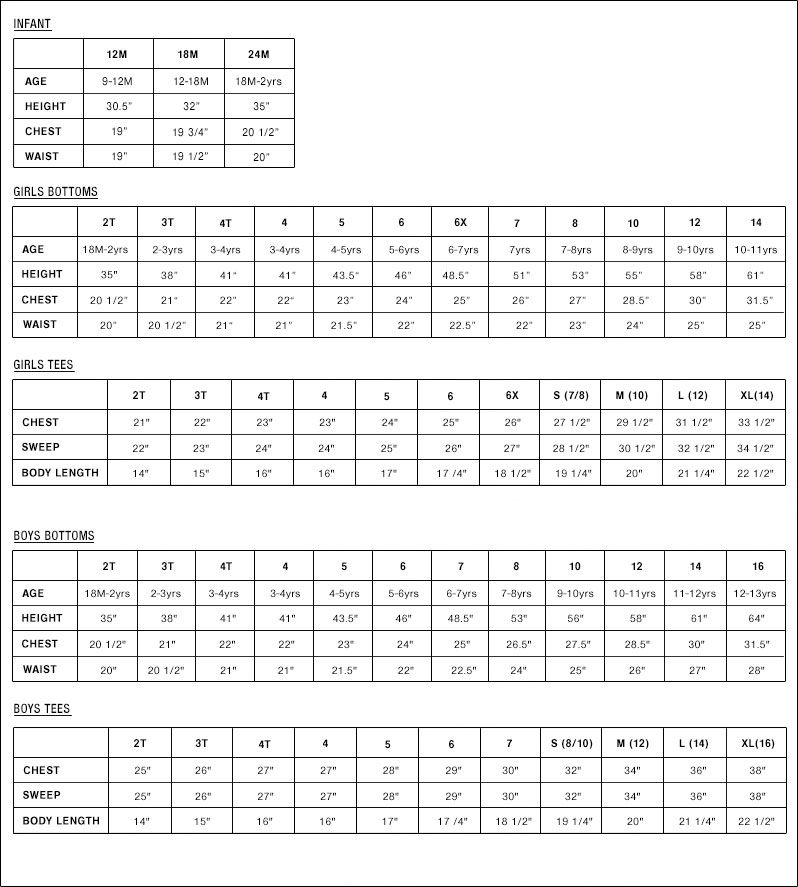 Baby size chart sizing for making clothes bebe pinterest preemies and also rh