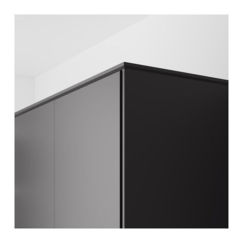 KUNGSBACKA Chamfer molding, anthracite | Mudroom cabinets, Mudroom ...