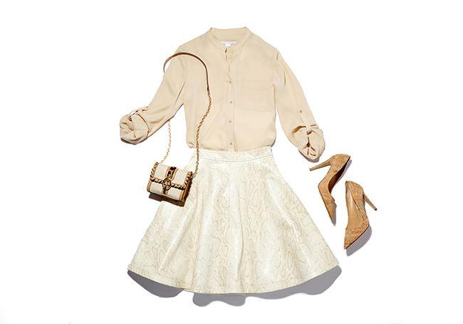 Neutral Territory: The Luanne Skirt and Lorelei Top   The Diane von Furstenberg Blog