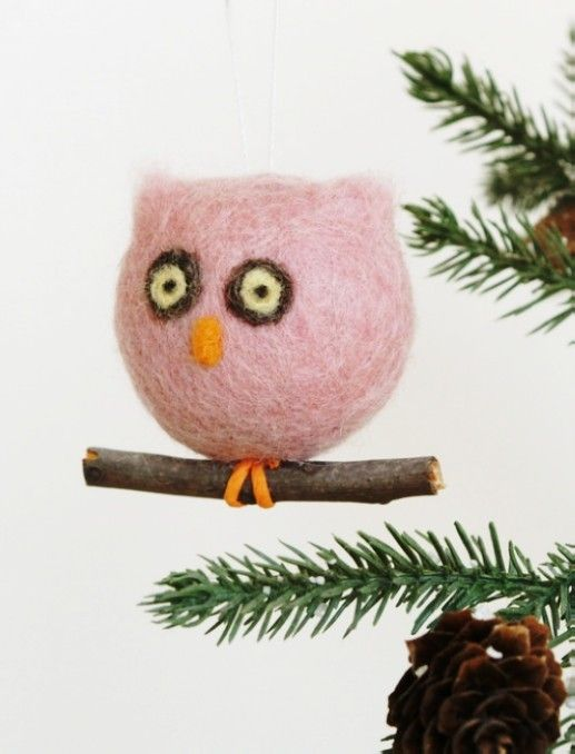 pastel pink owl for christmas decorations owl christmas tree ornaments pastel pink christmas ornament wwwloveitsomuchcom
