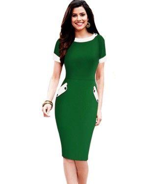 Dámské elegantní šaty zelené – dámské šaty + POŠTOVNÉ ZDARMA Na tento  produkt se vztahuje nejen 8ab70bc588