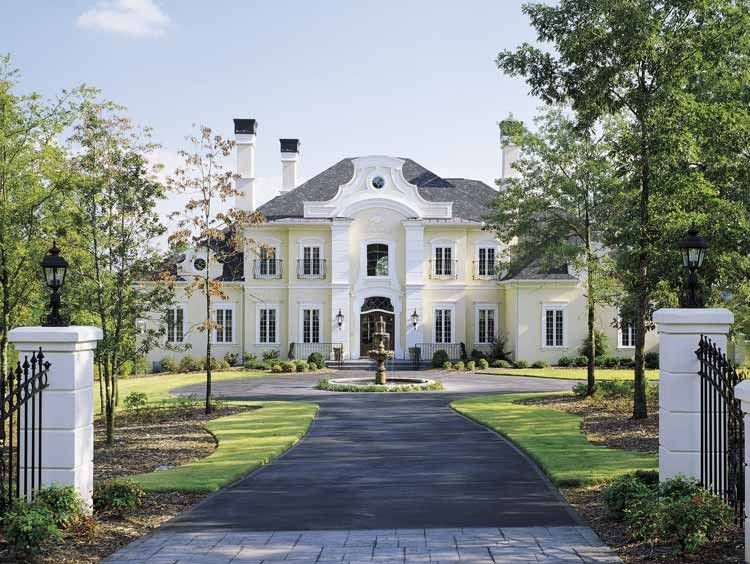 Chateau house plan with 5235 square feet and 4 bedrooms s Chateau home plans