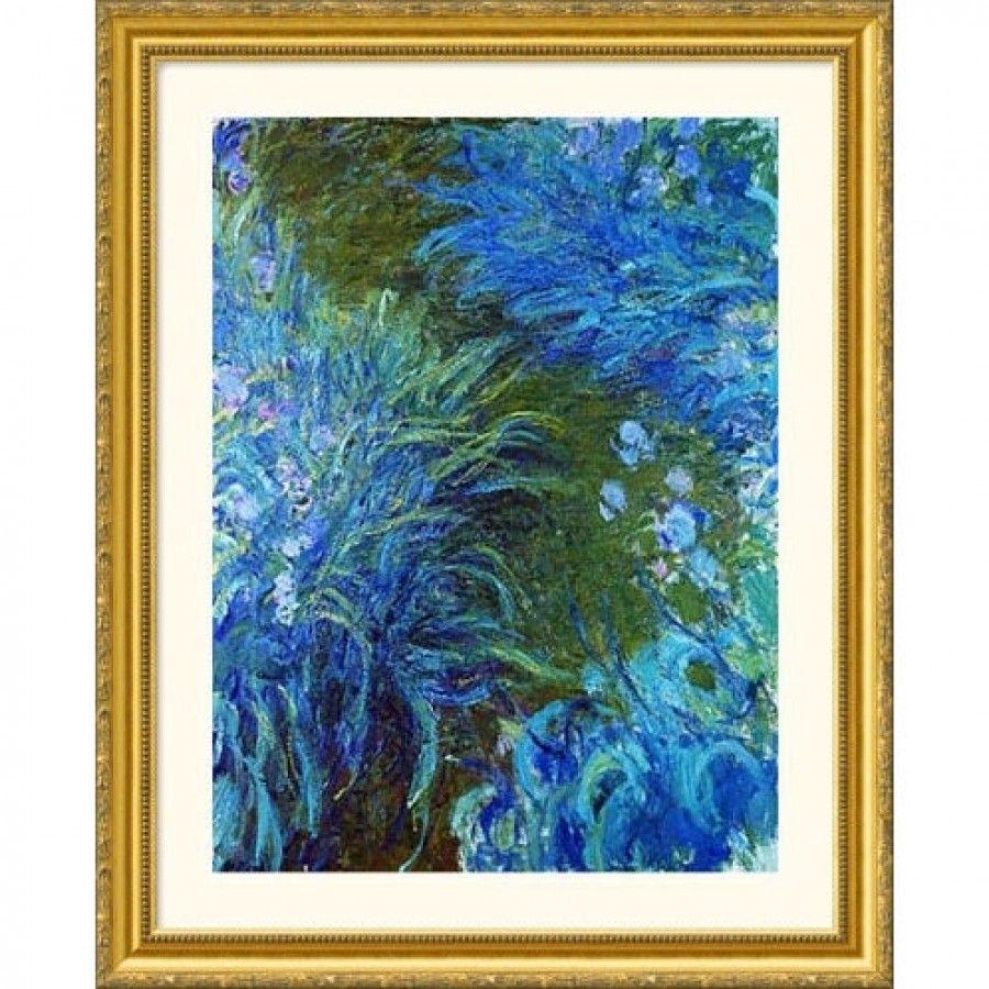 Great American Picture Iris Gold Framed Print Claude Monet 12817 Gold Wall Art Claude Monet Art