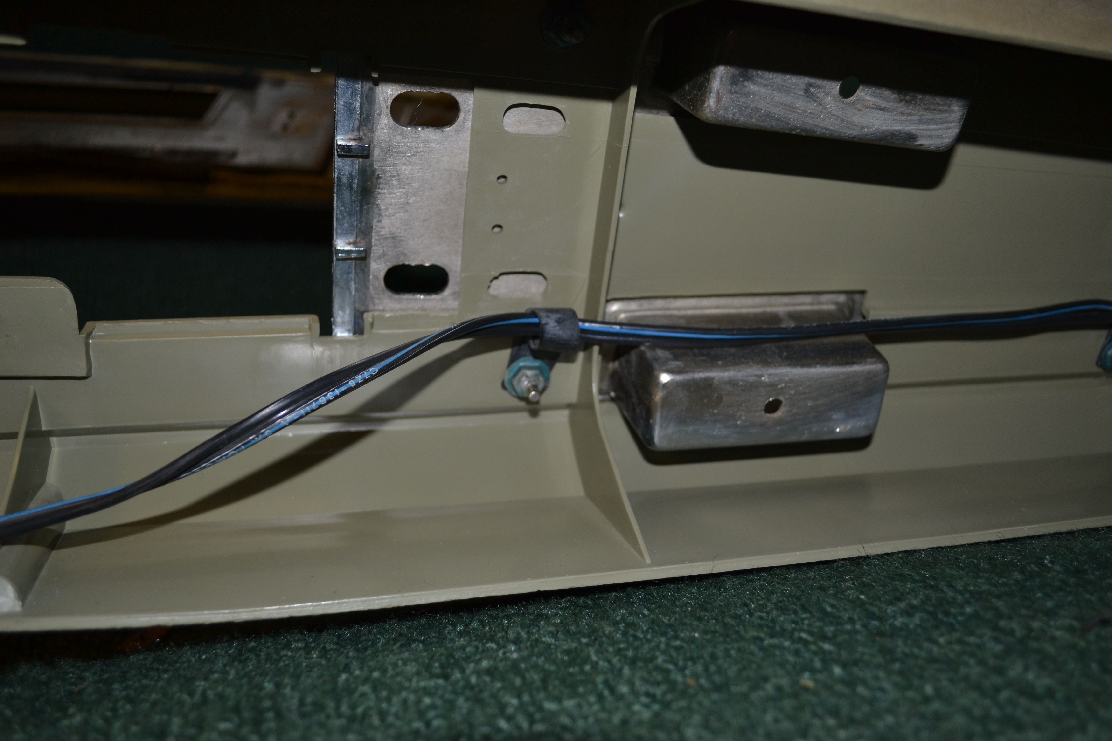wiring harness under the console. Consoles, Console
