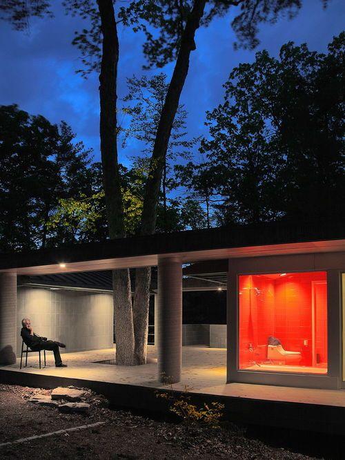 Exemple d\u0027une façade de maison moderne de plain-pied Architecture - Exemple De Facade De Maison
