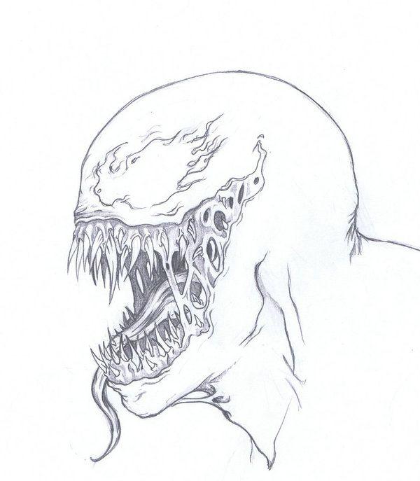 Dibujos De Venom Faciles A Lapiz