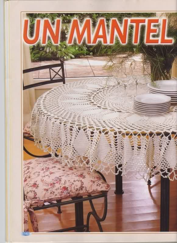 Varios patrones para realizar un mantel a crochet click - Hacer un mantel ...