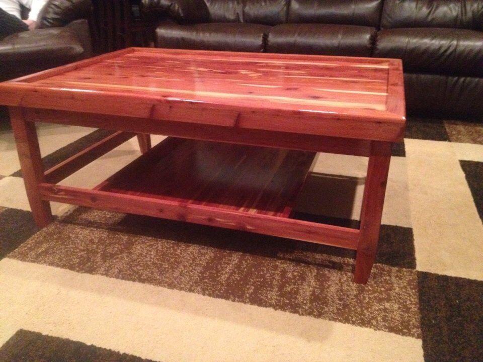 Cedar Coffee Table From Diy Plans Coffee Table With Shelf