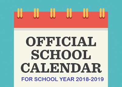 deped school calendar for school year 2018 2019 deped tambayan ph