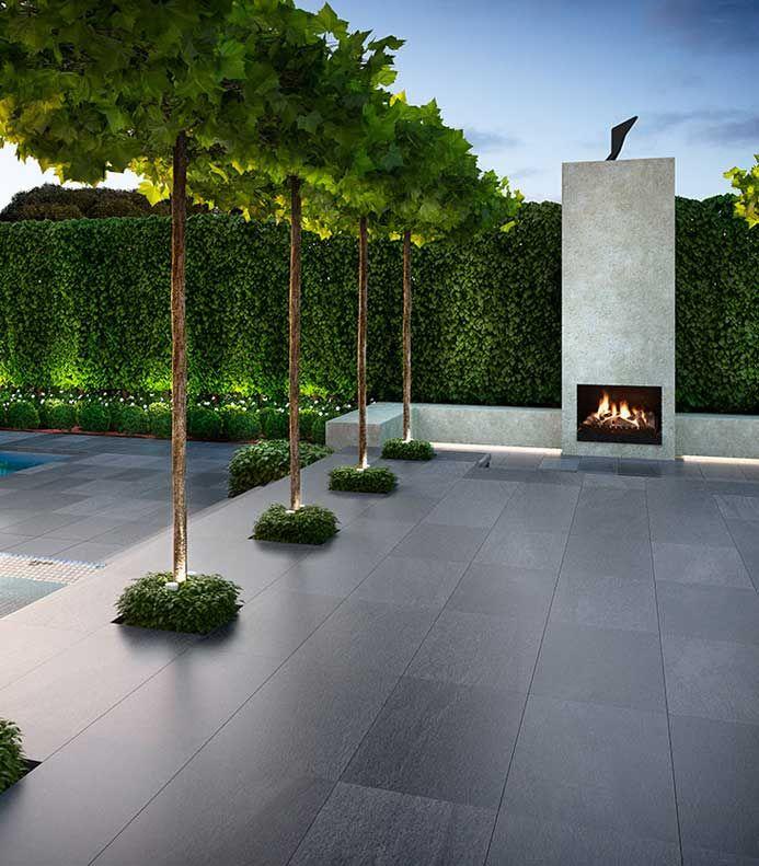 Modern Italian Garden Design: Italian Stone Paving - ? Bluestone/basalt In 2019
