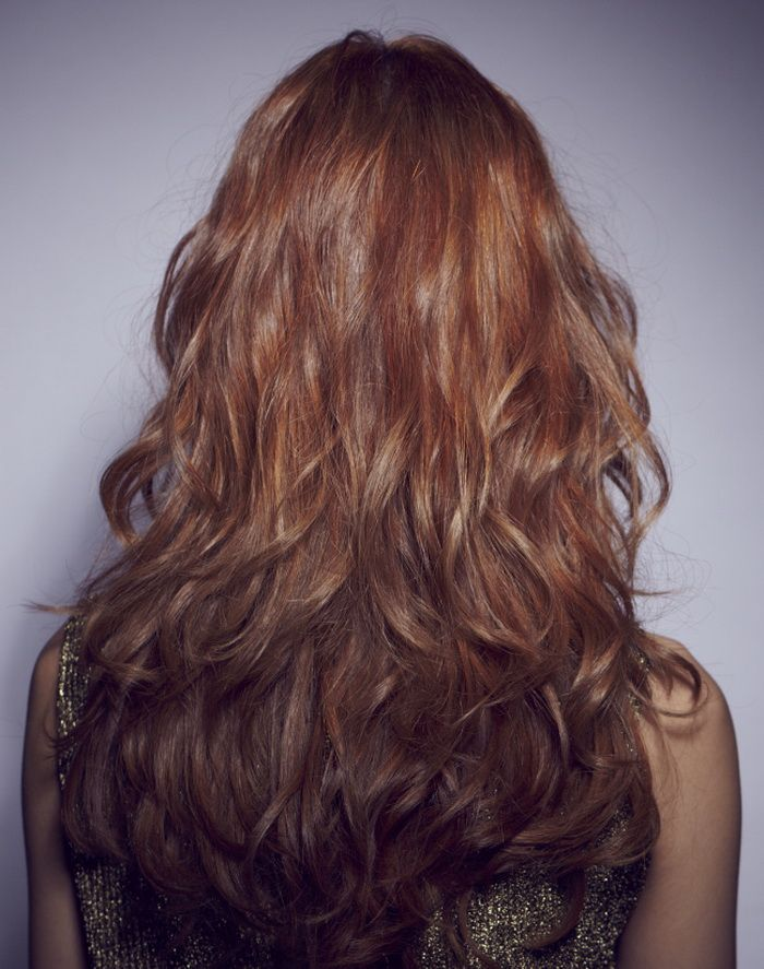 long layered wavy hair view