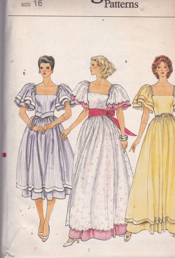 Vogue 8303 Vintage Muster Damen Kleid Brautjungfer von OhSewVogue ...