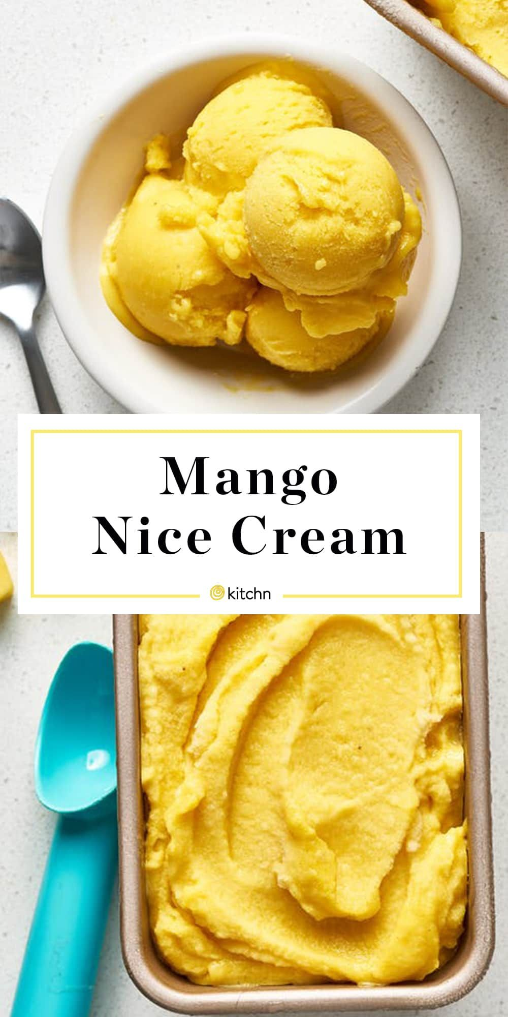 Recipe 3 Ingredient Mango Nice Cream Recipe Vegan Ice Cream Recipe Nice Cream Recipe Ice Cream Recipes